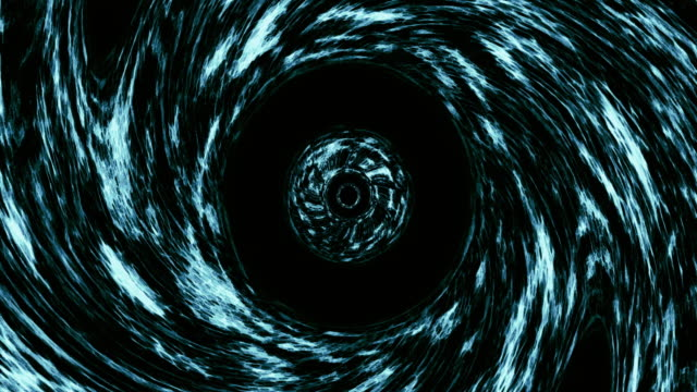 Seamless loop wormhole straight through time and space, warp straight ahead through this science fiction