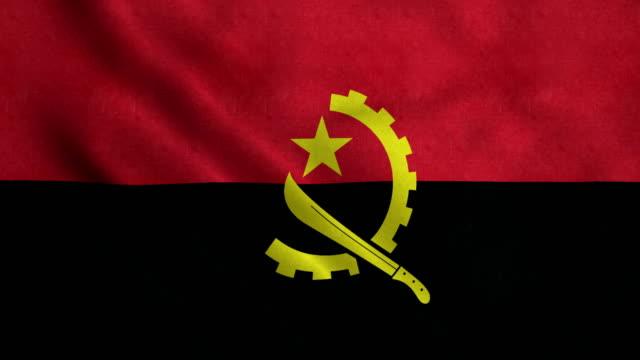 4K Seamless Loopable Flag of Angola video