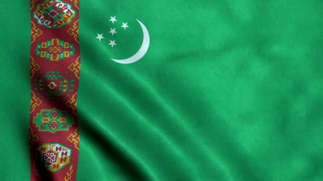 4K Seamless Loopable Flag of Turkmenistan 4K Seamless Loopable Flag of Turkmenistan turkmenistan stock videos & royalty-free footage
