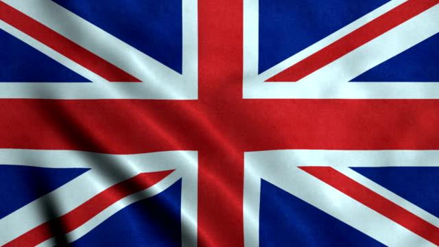 4K Seamless Loopable Flag of United Kingdom 4K Seamless Loopable Flag of United Kingdom uk map stock videos & royalty-free footage