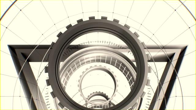 シームレスなループ抽象トンネル モーション グラフィックス - 機械部品点の映像素材/bロール
