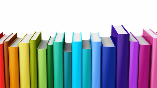 無縫迴圈彩色精裝書 - back to school 個影片檔及 b 捲影像