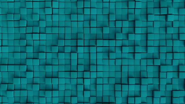 Seamless looping cube wall. video