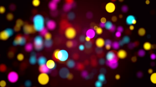 vídeos de stock, filmes e b-roll de partículas multicoloridas perfeitas bokeh abstrato, loop de vídeo 4k - eventos de gala