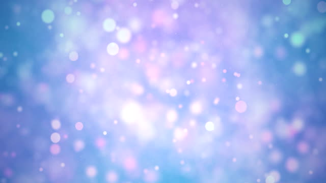 Seamless Multi-Colored Particles Bokeh Abstract, 4K Video Loop