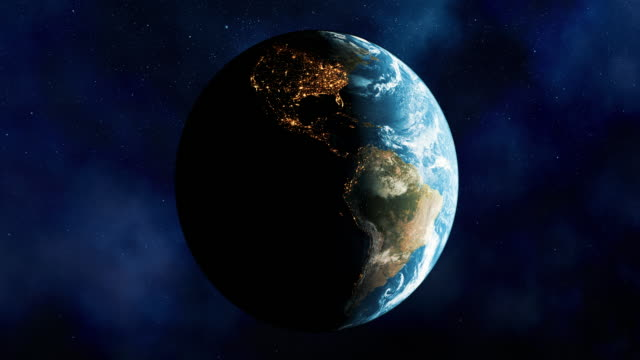Seamless Planet Earth with star field backgrounds