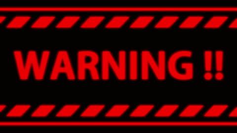 Seamless Red Warning Alert word on black screen. Seamless Warning Alert word on black screen. alertness stock videos & royalty-free footage