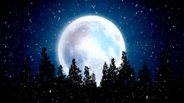 Seamless Snowy Christmas Night, 4K Video Animation.