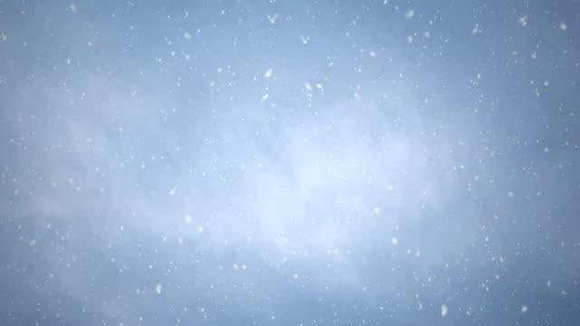 Seamless Snowy Sky, 4K Loop.