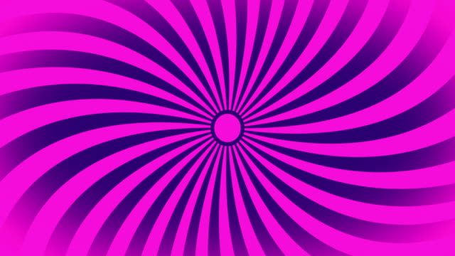Seamless Swirling Radial Vortex Background, Pink and Purple Color Stripes Are Swirling, 4K Video.