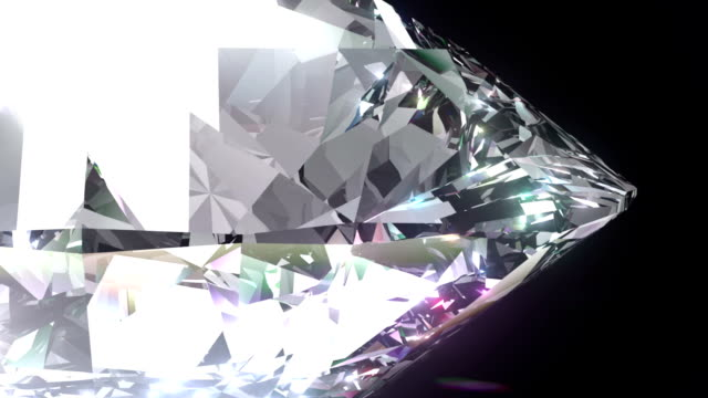 Seamless Turning 3D Brilliant Diamond. Full HD. video