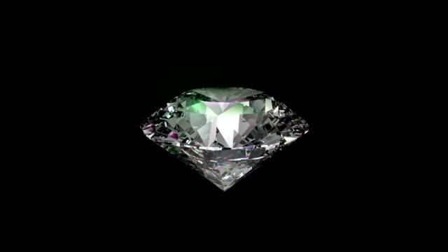 Seamless turning 3D Brilliant Diamond. High Definition. video