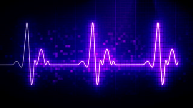 Seamlessly looping EKG heart monitor. HD1080p. video