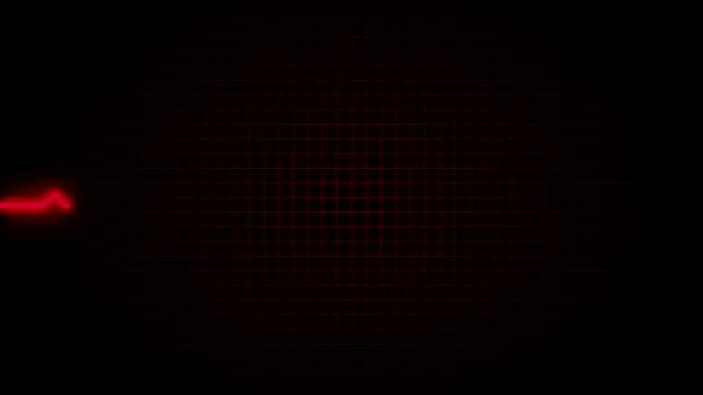 Seamlessly looping EKG heart video