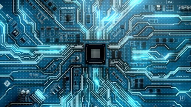 vídeos y material grabado en eventos de stock de bucle futuristas de tablero electrónico - placa madre