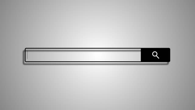 arama çubuğu eleman tasarımı, beyaz arka plan üzerinde arama kutusu, 3d render - www stok videoları ve detay görüntü çekimi
