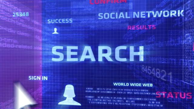 przycisk wyszukiwania - zachodnie pismo filmów i materiałów b-roll