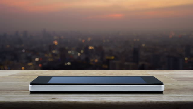 Search engine optimization concept seo flat icon on modern smart phone screen on wooden table over blur of cityscape on warm light sundown, Search engine optimization concept seo stock videos & royalty-free footage