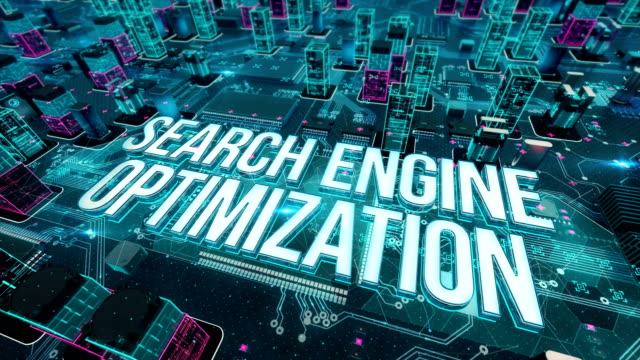 Search engine optimization with digital technology concept Digital city, diversity of business, technology and internet concept digital marketing stock videos & royalty-free footage