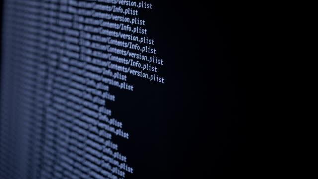 sök filer processen i big data-array - livsmedelstillverkningsfabrik bildbanksvideor och videomaterial från bakom kulisserna