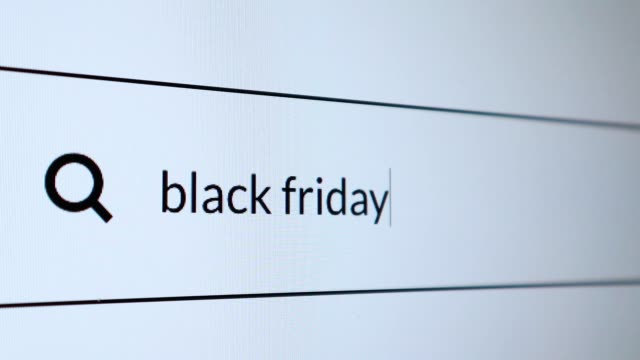 "search for ""black friday"" word on the internet - black friday стоковые видео и кадры b-roll"