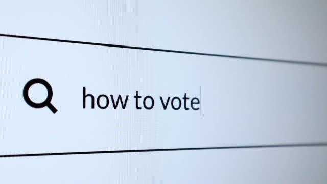 """vídeos y material grabado en eventos de stock de buscar la palabra """"cómo votar"""" en internet - seo"""