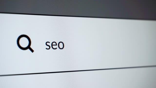 """vídeos y material grabado en eventos de stock de búsqueda de palabra """"seo"""" en internet - seo"""