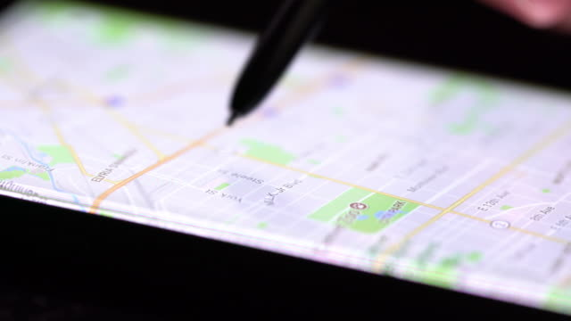 Search map on smart phone