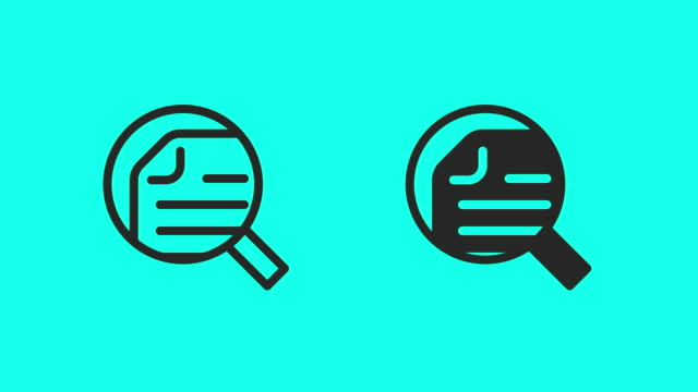 Searching Document Icons - Vector Animate