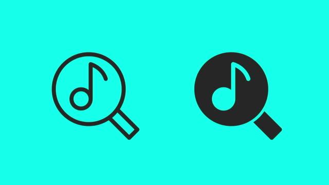 müzik simgelerini arama - vektör animasyonu - el aleti stok videoları ve detay görüntü çekimi