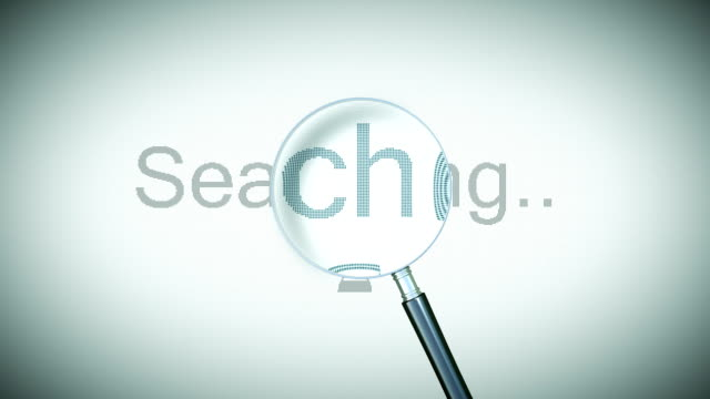 Searching process with Loupe. Loopable animation. HD 1080. video