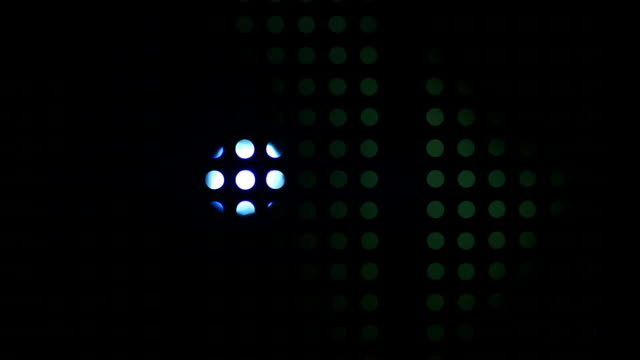 Searchlight illuminates a circular grid video
