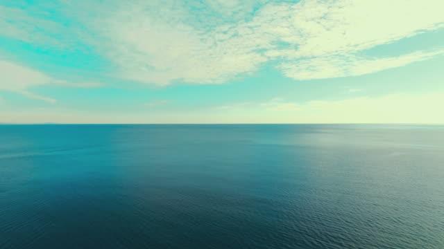 AERIAL: Seascape at sunrise video