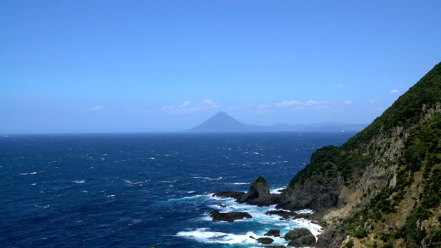 seascape from Sata cape in Japan video