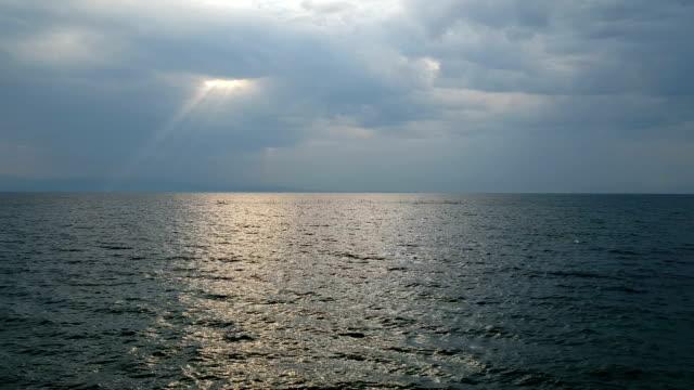 海景在水面上, - sicily 個影片檔及 b 捲影像