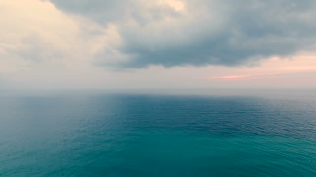 seascape in early morning, aerial video video
