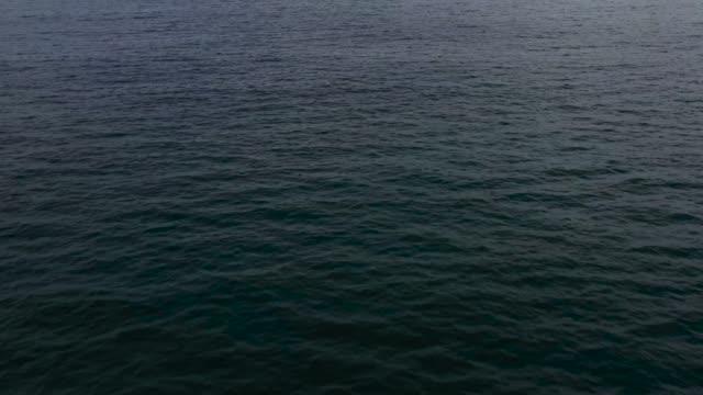seelandschaft am frühen morgen. das meer und die insel in der ferne - horizont über wasser stock-videos und b-roll-filmmaterial