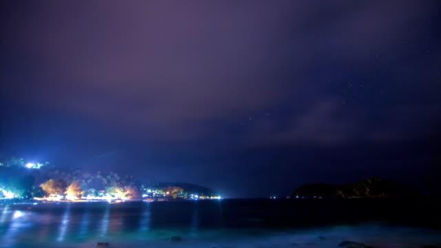 seascape night (weh ö) tid förflutit - 2015 bildbanksvideor och videomaterial från bakom kulisserna