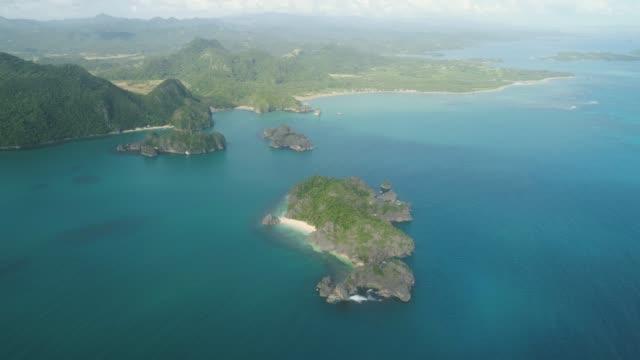 Seascape of Caramoan Islands, Camarines Sur, Philippines video