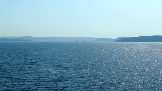 seascape -  strait of dardanelles - krajobraz morski filmów i materiałów b-roll