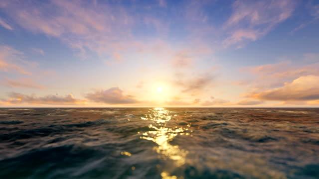 seascape. sunset in the ocean / sea - krajobraz morski filmów i materiałów b-roll