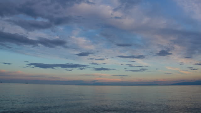 Seascape  sunset to night time lapse stock videos & royalty-free footage
