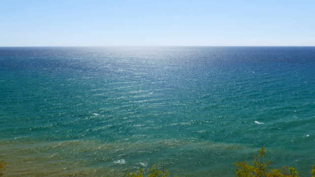 Seascape with cloudless horizon video