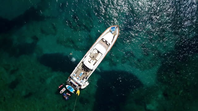 Seascape with Yacht Seascape with Yacht yachting stock videos & royalty-free footage