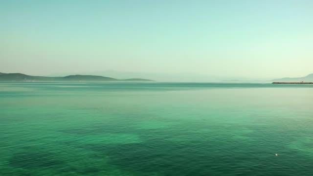 seaside beach seascape holiday concept - krajobraz morski filmów i materiałów b-roll