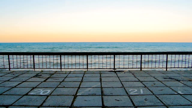 Seaside embankment video