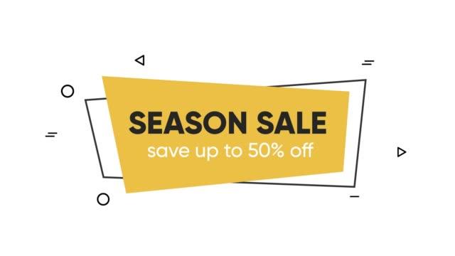 Season sale minimal geometric animated background