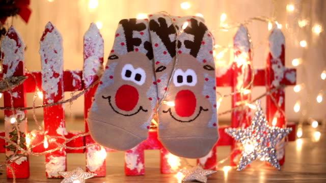 Seasonal winter socks by th Christmas decoration video