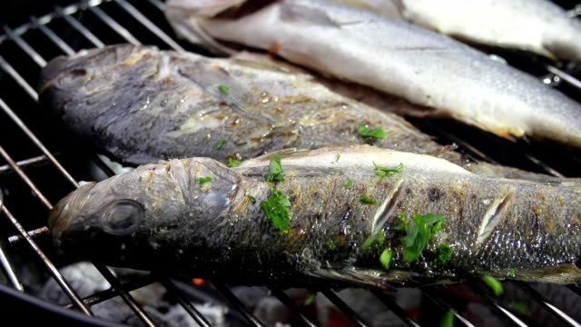 SLO MO Seasoning The Fish With Parsley video