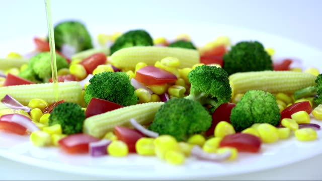 Seasoning The Vegetables (Super Slow Motion) video